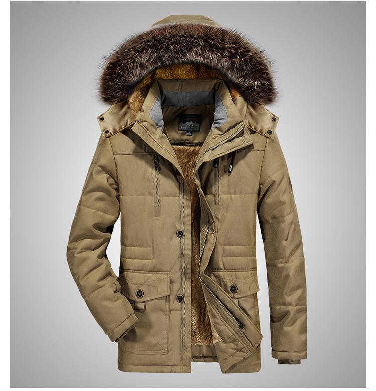 2020 Mens giacca invernale spessore caldo cotone imbottito Coat Parka maschio medio-lungo giacche con cappuccio cappotti Windbreaker marchio di abbigliamento 7XL