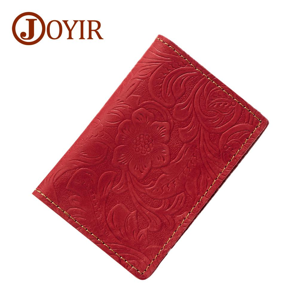Vintage Men Genuine Leather passport Holder travel wholesale Floral Credit business Card Case Id Cardholder Wallet License for Male New Best