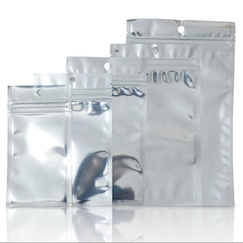 알루미늄 호일 플라스틱 지퍼 잠금 가방 지우기 재 밀봉 마일 라 (Mylar) 지퍼 파우치를 들어 휴대 전화 케이스 케이블 배터리 아무것도 소매 포장 패키지
