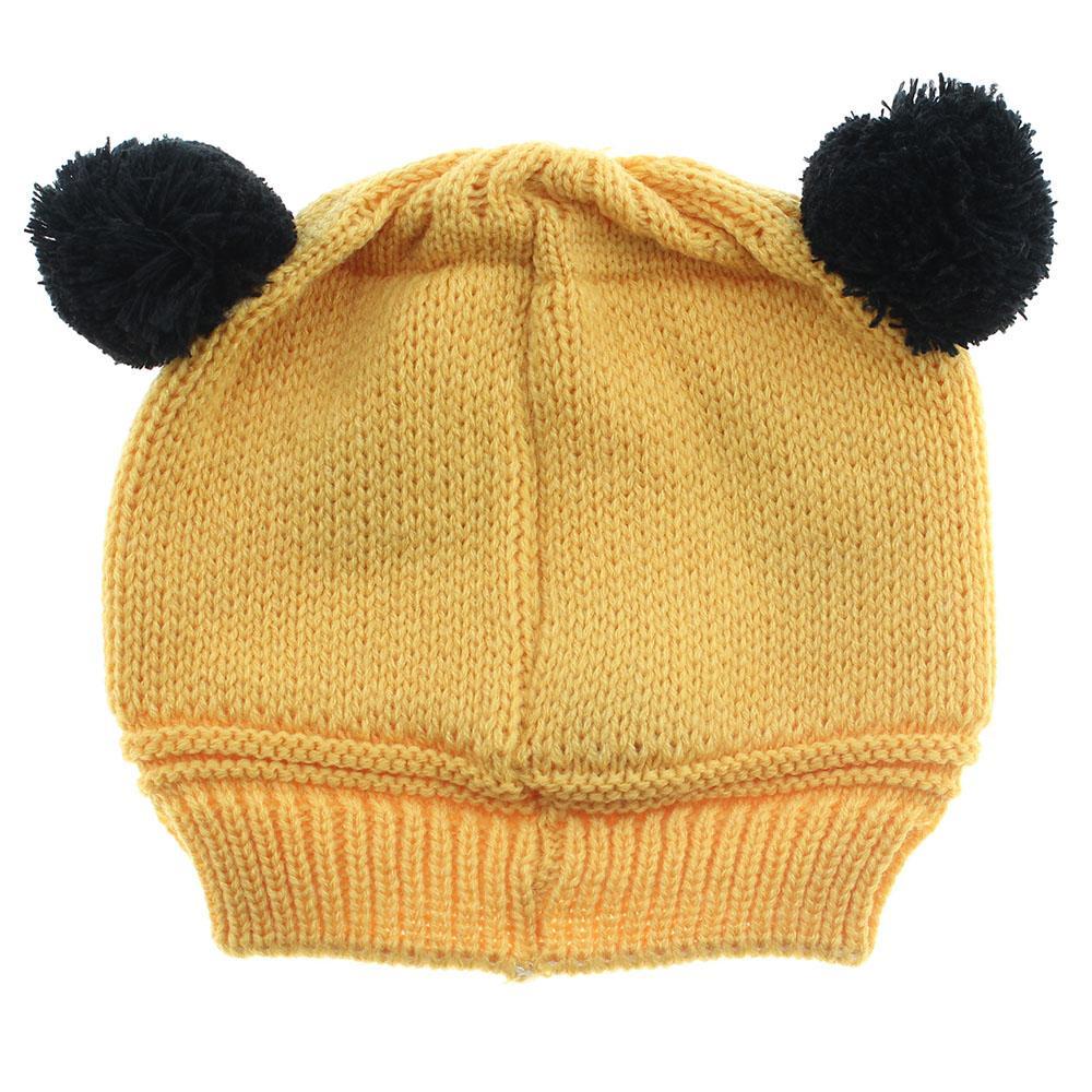 Moda Inverno Malha bebê recém-nascido chapéu Meninas Meninos Lã Panda Cap Crianças Beanie infantil Toddlers Knit Crochet Criança Quente