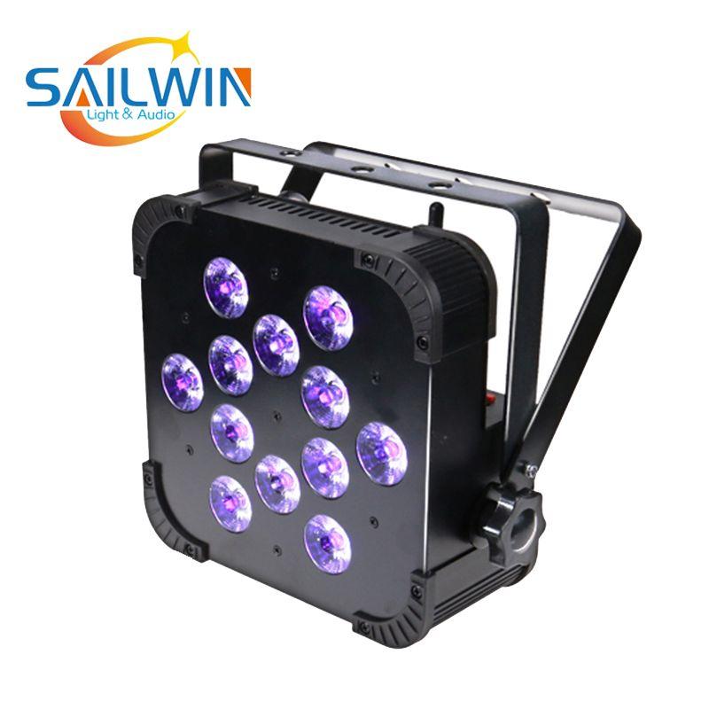 Uzaktan Kumanda İçin Etkinlik Partisi ile Çin Sahne Işık 12 * 18W 6in1 RGBAW UV Mini Kablosuz LED Düz Par Işık