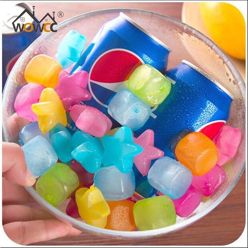 WOWCC 20 pcs Étoiles En Forme De Glaçons En Plastique Réutilisable Multicolore Cube De Glace Outils De Refroidissement Physique Outil de Partie