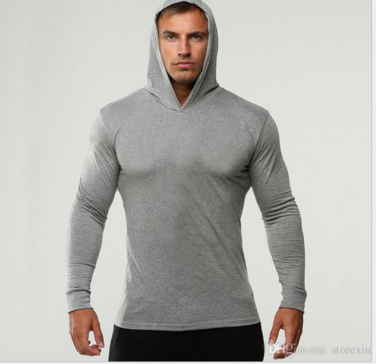 2019 nova moda masculina de lazer, esguio, mangas compridas, preguiçoso e disperso bloco hoodie, cor pura moda Hoodie Jacket