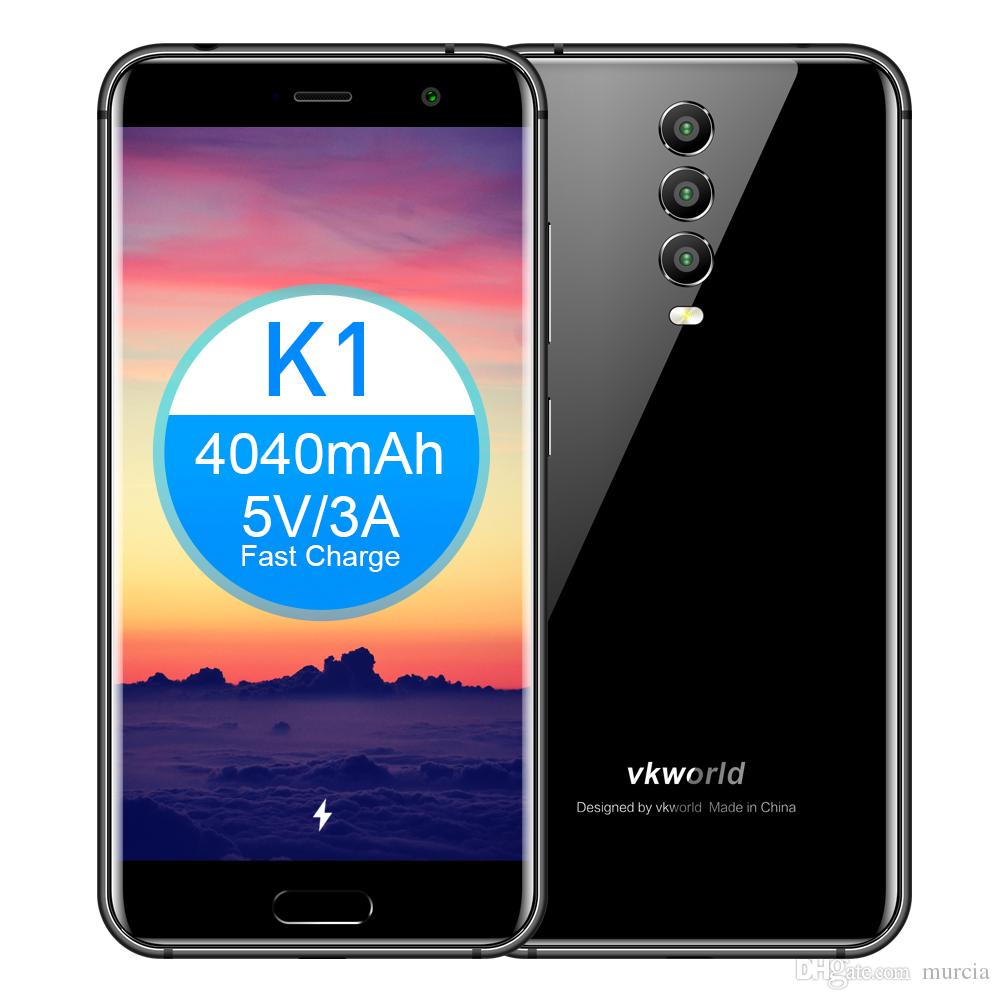 """VKWORLD K1 Rear Three Camera 5.2"""" India Can Use Android 8.1 4040mAh Fast Charge 5V/3A 4GB RAM 64GB ROM MTK6750T In-Cell Octa Core Smart Pho"""