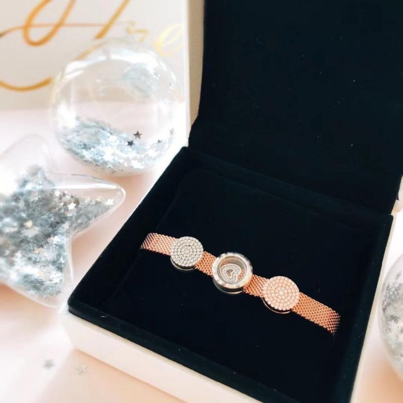 친구 무료 메일 제조업체 도매 LIDU 100 % 925 개 고품질 패션 스타 팔찌 도금와 로즈 골드 선물