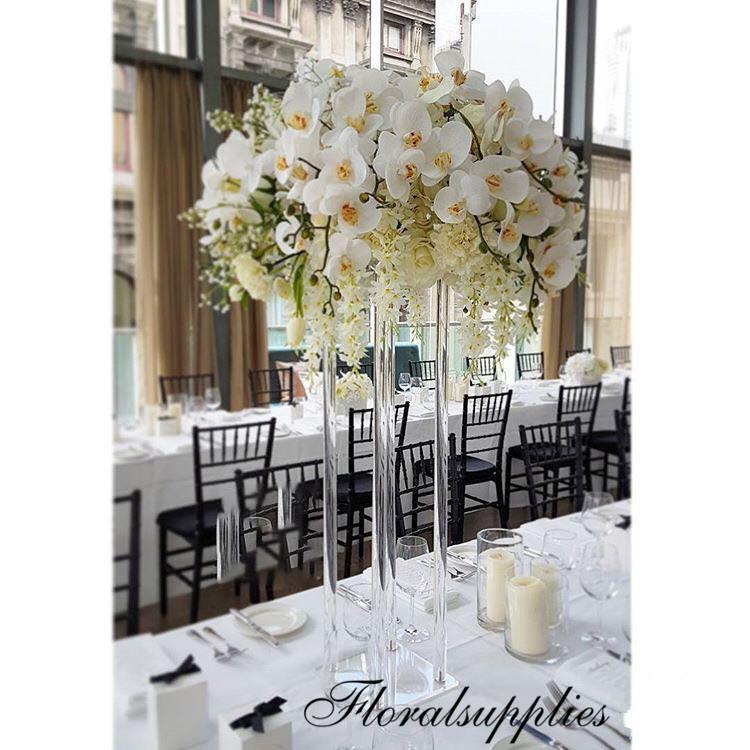 Acrylic Column Display Rack Wedding Centerpiece Clear Flower Stand Marriage Crystal Acrylic Flower Vase Road Lead Column Pillar Props