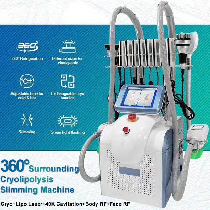 냉동 기계 기계 얼굴 RF 초음파을 알아내는 뚱뚱한 손실 지방 흡입 진공 캐비테이션 냉동 요법 지방을 냉동 원래 한 Cryolipolysis 지방