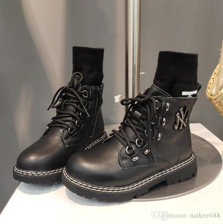 2020 Winter New Leather Girl Boots