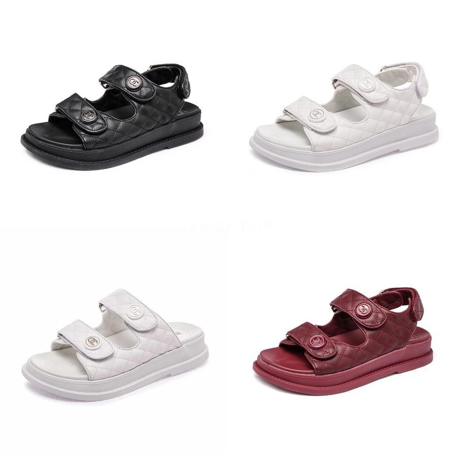 Sexy2020 sandali flangia di colore della caramella Will Codice Womens Torna viaggio Hairtail bocca piatta scarpe che 1681 # 517