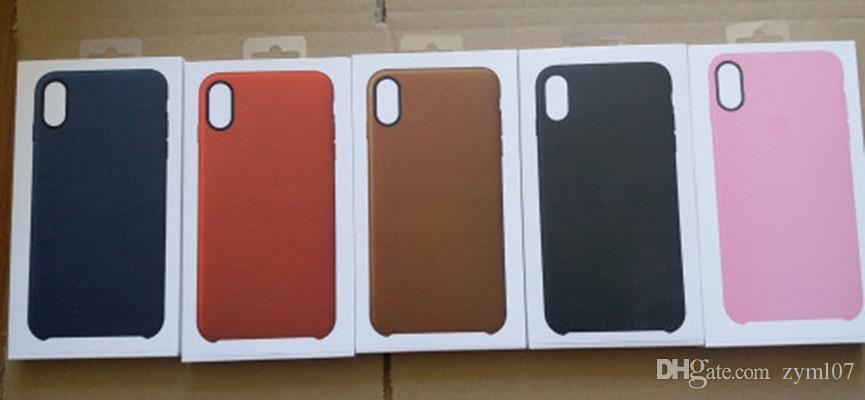 Botão de plástico xs max caso pu couro logotipo oficial estilo proteção capa para iphone xs xr case 5.8 / 6.1 / 6.5 polegadas 8 7 mais caixa de varejo