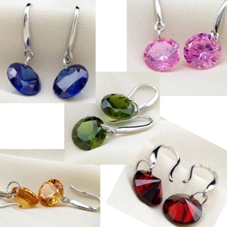 새로운 패션 화려한 다이아몬드 보석 제조 업체 패션 실버 도금 귀걸이 한국 패션 긴 귀걸이 실버 귀걸이