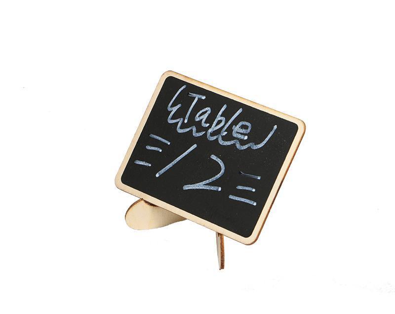 Acheter Diy Assemble Mini Tableau Noir En Bois Nom Message Panneau Noir Etiquettes De Noce De Mariage Tableau Tableau Nombre Stand De 22 2 Du Lucindawu Dhgate Com