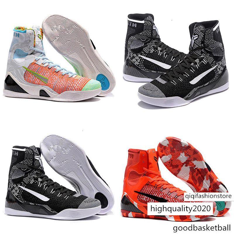 Быстрая перевозка груза Mens KB9 Bryants 9 IX Easter высокой верхней баскетбольной обуви ZK9 Рождество Shoe Красный Черный Белый Синий BHM 9S кроссовки 40-46