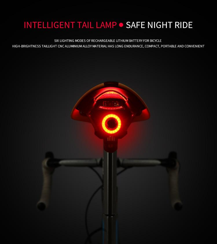 Fener İçin Bisiklet Arka Işık Oto Fren Algılama USB Şarj LED Dağları Bisiklet Seatpost Bisiklet Taillight Bisiklet Arka Işık Aksesuarları