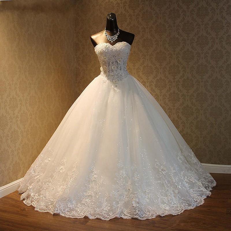 Nueva imagen real 2020 elegante cordón de lujo del vestido de novia de la vendimia más el tamaño de vestidos de bola Vestido de Noiva por encargo atan para arriba 90