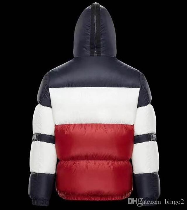 Uomo di marca Inverno Caldo Giacca sportiva imbottita Designer Boy Tessuti high-tech Cappuccio con cerniera Cappotto in nylon lucido