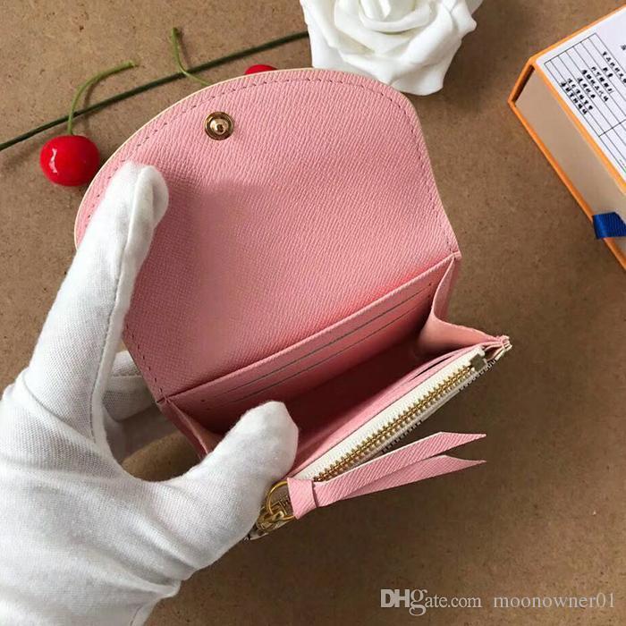 alta qualità titolare donne portamonete progettista portafoglio classico biglietto da visita Commercio all'ingrosso supporto di carta del progettista breve portafoglio Moda scatola originale