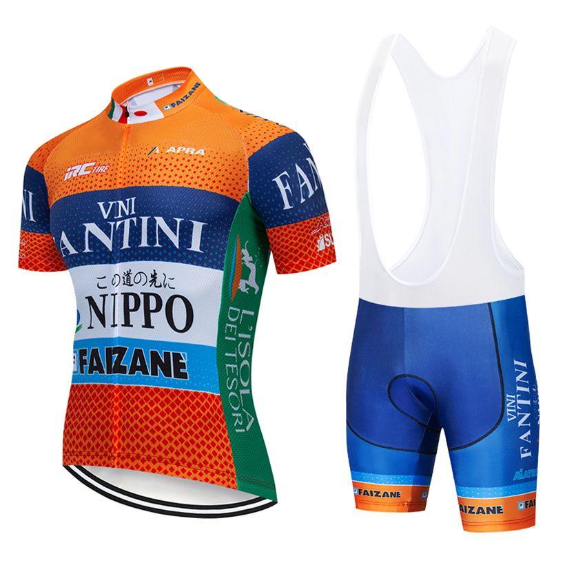 pantaloncini Bike Team 2019 arancione CYCLING JERSEY 12D impostare estate Ropa Ciclismo MENS asciutto rapido BICICLETTA Maillot pantaloni abbigliamento