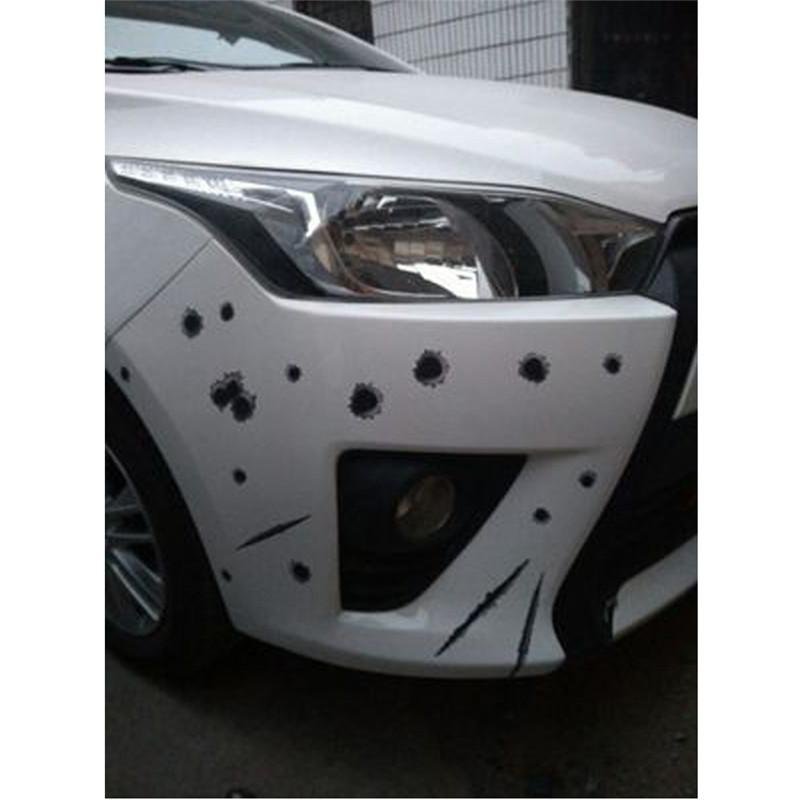2018 New Car Sticker Hot Sale Cracking Simulation Bullet hole Scratch car sticker Waterproof Stickers