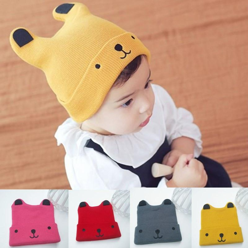 Toddler Kids Christmas gift Baby Cartoon Bear Warm Crochet Knit Hat Beanie Cap Hat Cartoon teddy bear Baby Knitted Wool Hat