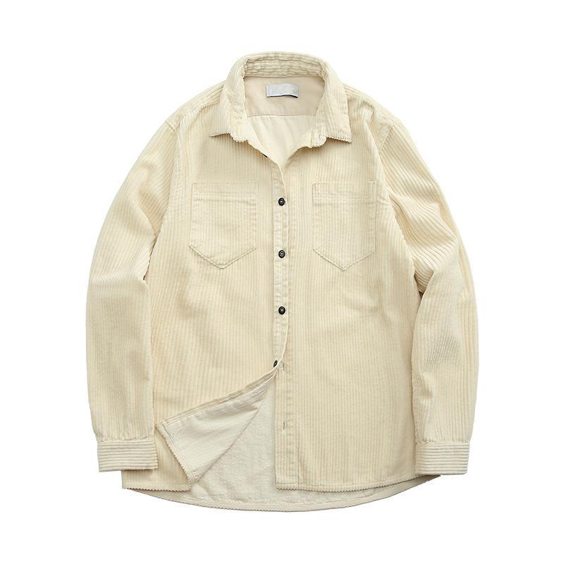 Topstoney 2020Konng Gonng Fonksiyonel Kadife Erkek Gömlek İlkbahar ve Sonbahar Moda Marka Rahat Ceket Kadife Uzun Kollu Gömlek