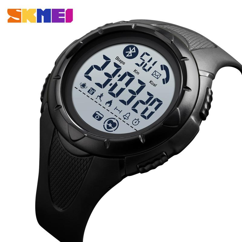 SKMEI 1542 Smart Water Control Luminous Display Watch Heart rate Bluetooth Application Remind Sleeping Monitor reloj inteligente