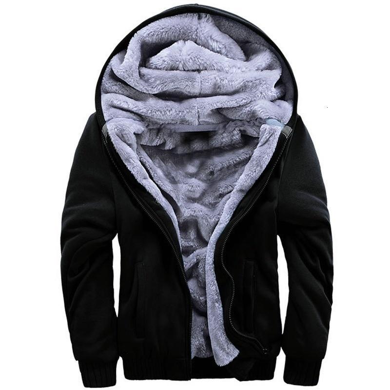 بلايز الرجال معطف الشتاء الدافئة عارضة هوديي كم طويل فو الفراء ذكر الستر زائد الحجم الصلبة زيبر جيب خارجية