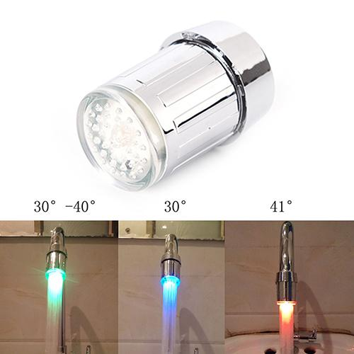 Faucet Replacement Parts Shower Head 3 Color LED Water Faucet Light Glowing Shower Head Kitchen Tap Aerators