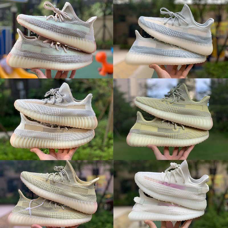 New Kanye West Lundmark Antlia Synth Running Shoes verdadeiro brilho Form Hyperspace argila estática Black White Reflective Belgua Zebra Sneakers