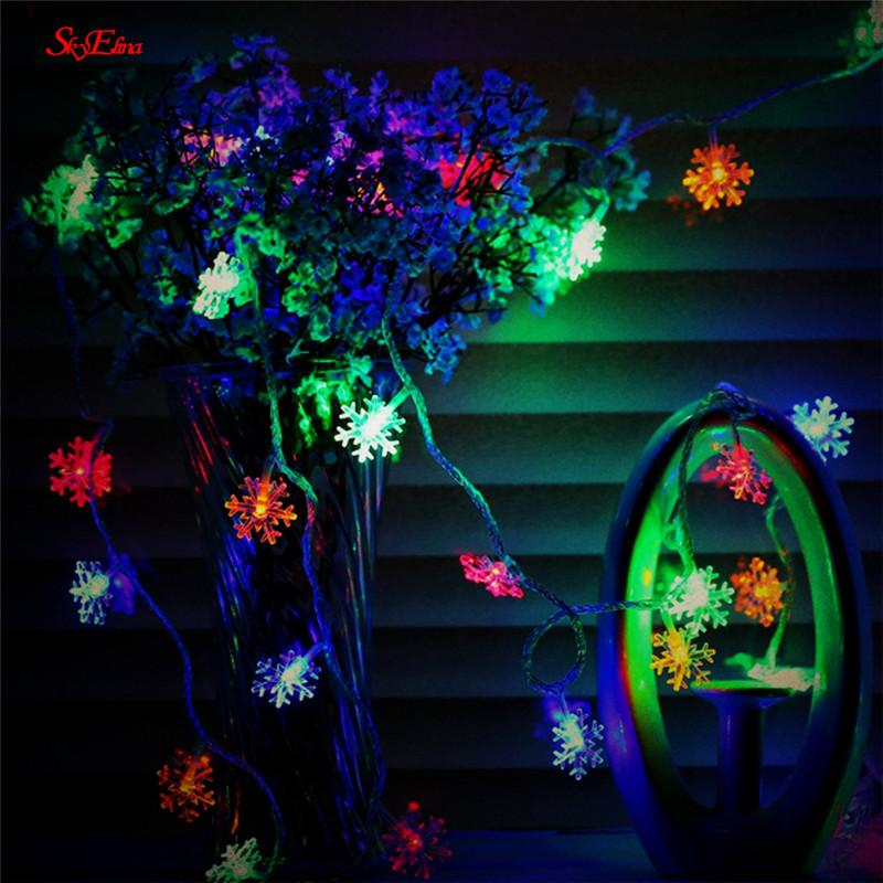 10M/100LED Christmas Tree Snowflake Light String Fairy Light for Wedding Home Party New Year Decoration 6zMM252