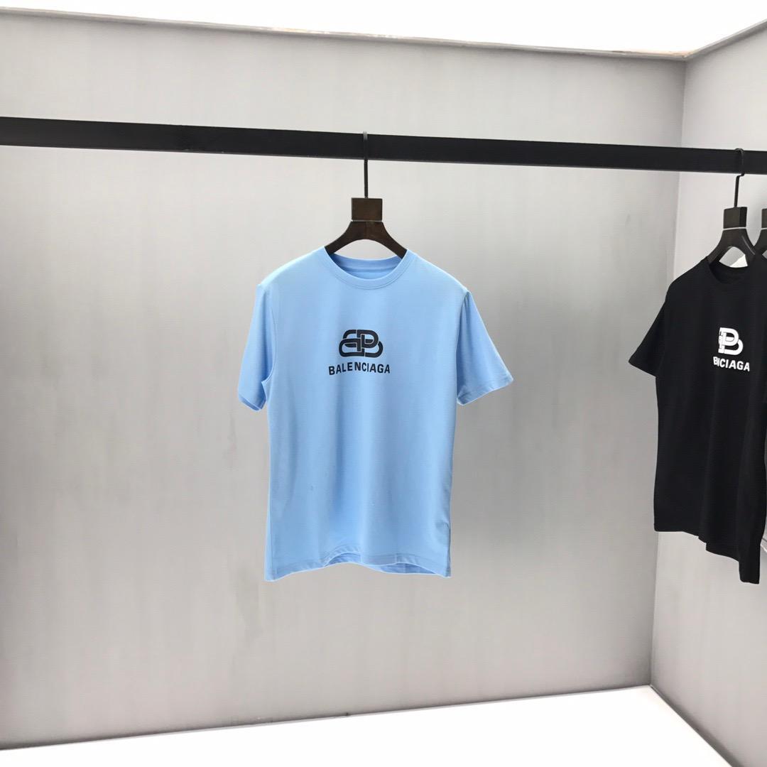 2020ss primavera e l'estate nuovo cotone di alta qualità di stampa manica corta rotonda pannello collo T-shirt Dimensione: m-L-XL-XXL-XXXL Colore: nero bianco 14Q
