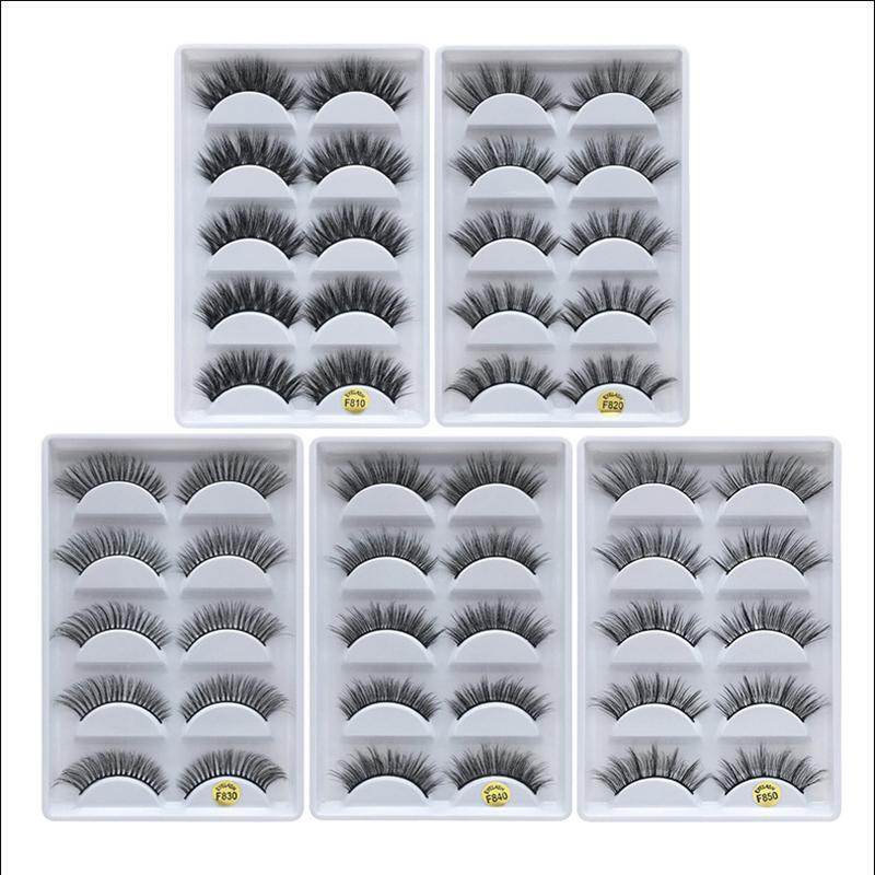 3D Mink Eyelashes Eye makeup Mink False lashes Soft Natural Thick Fake Eyelashes 3D Eye Lashes Extension Beauty Tools 12 styles DHL Free