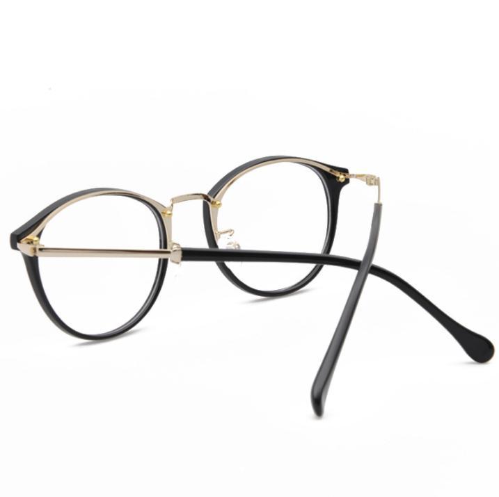 Fashion Round Sunglasses Designer Brand TR90 Frame Glass Lenses For Mens Womens ultra-light artistic myopia glasses free shipping