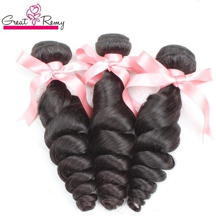 """Greatremy Drop Shipping 100% Braziliaanse haarverlenging Menselijk Haarbundels 8 """"-30"""" Losse Wave Virgin Hair Weeft inslag Natural Color 3PCS / PARTIJ"""