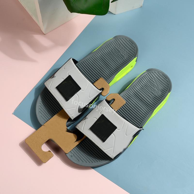 90 Slide Rauchgrau Volt Pantoffeln Schwarz Weiß Herren Camden 90s Flip-Flop Cool Gray Sport Casual Men Schuhe Sandalen Strand Größe 40-45 Pantoffel
