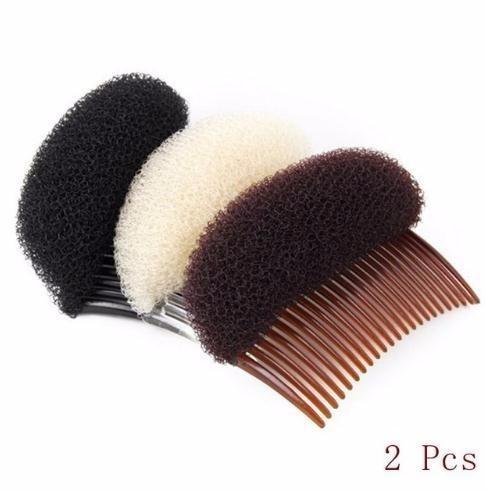 Hot Sale 2 Pcs New Fashion Women Girls Easy Used Plastic Clip Stick Bun Maker Braid Tool Comb Hair Accessories