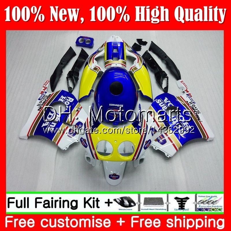 Injection Rothmans Blue +Tank For HONDA CBR 250RR CBR250RR 95 96 97 98 99 77MT13 MC22 CBR250 RR 1995 1996 1997 1998 1999 Fairing Bodywork