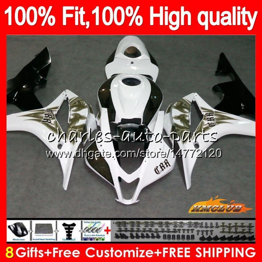 07 08 09 10 11 CBR600RR GLOSS SHINY BLACK COMPLETE FAIRING BOLTS SCREWS KIT USA