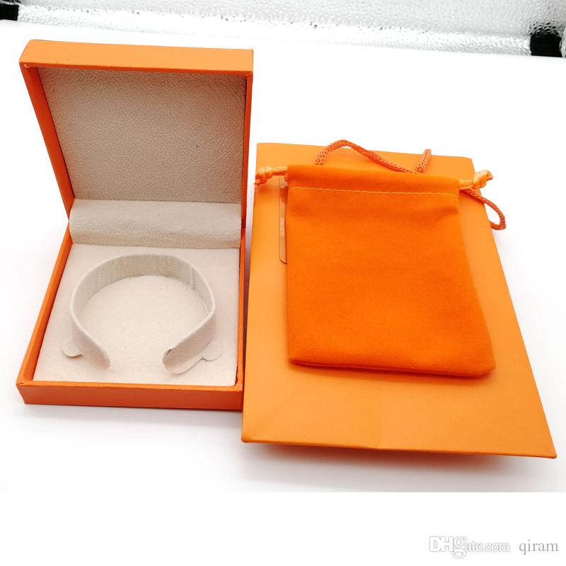 2020 Yeni Moda marka H bilezik paket kutu takı kutusu için orijinal çanta ve velet çanta takı hediye kutusu ayarlayın