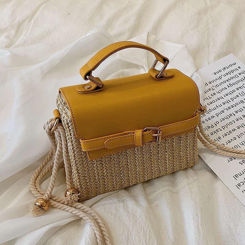 2020 Элегантная женская сумочка Летняя Соломенная пляжная Женские сумки Путешествия плеча Сумка Bolsos Mujer Болса