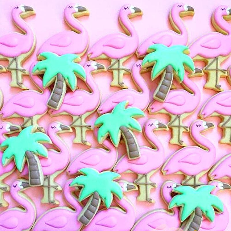 1pc Stainless Steel Cookie Cutters Flamingo Pineapple Cookie Stamps Bakeware Cookie Mold Cake decorating tools Biscuit Mold