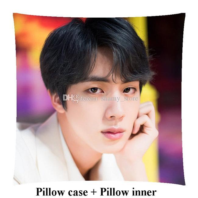 Bangtan Boys customized Square Pillows girl gift Kim Seok Jin soft sofa woman pillow Bedding Supplies