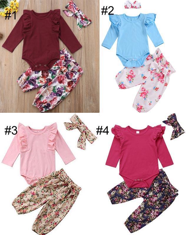 3 Piezas Set Traje para Ni/ña con Mameluco de Manga Larga Estampado de Leopardo Pantalones y Diadema Conjunto de Beb/é Reci/én Nacido