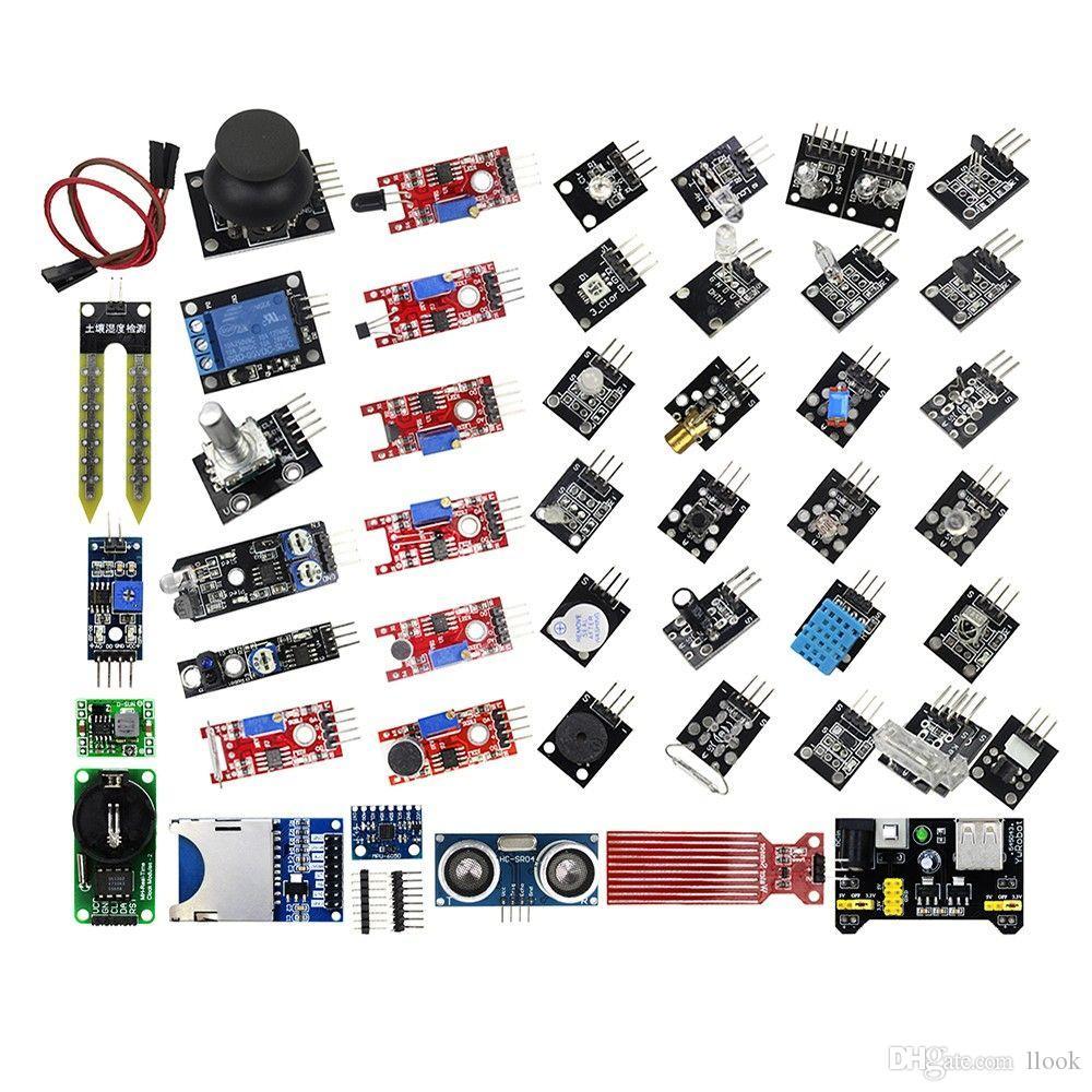 Freeshipping 45 IN 1 Sensormodule Starter Kit, besser als 37in1 Sensor Kit 37 IN 1 Sensor Kit für DIY KIT