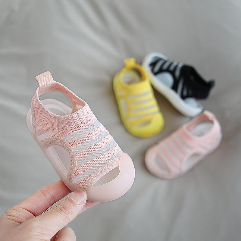 2020 Summer Baby Girls Boys Sandals Children Beach Sandals Soft Bottom Non-slip Infant Shoes Kids Outdoor First Walkers