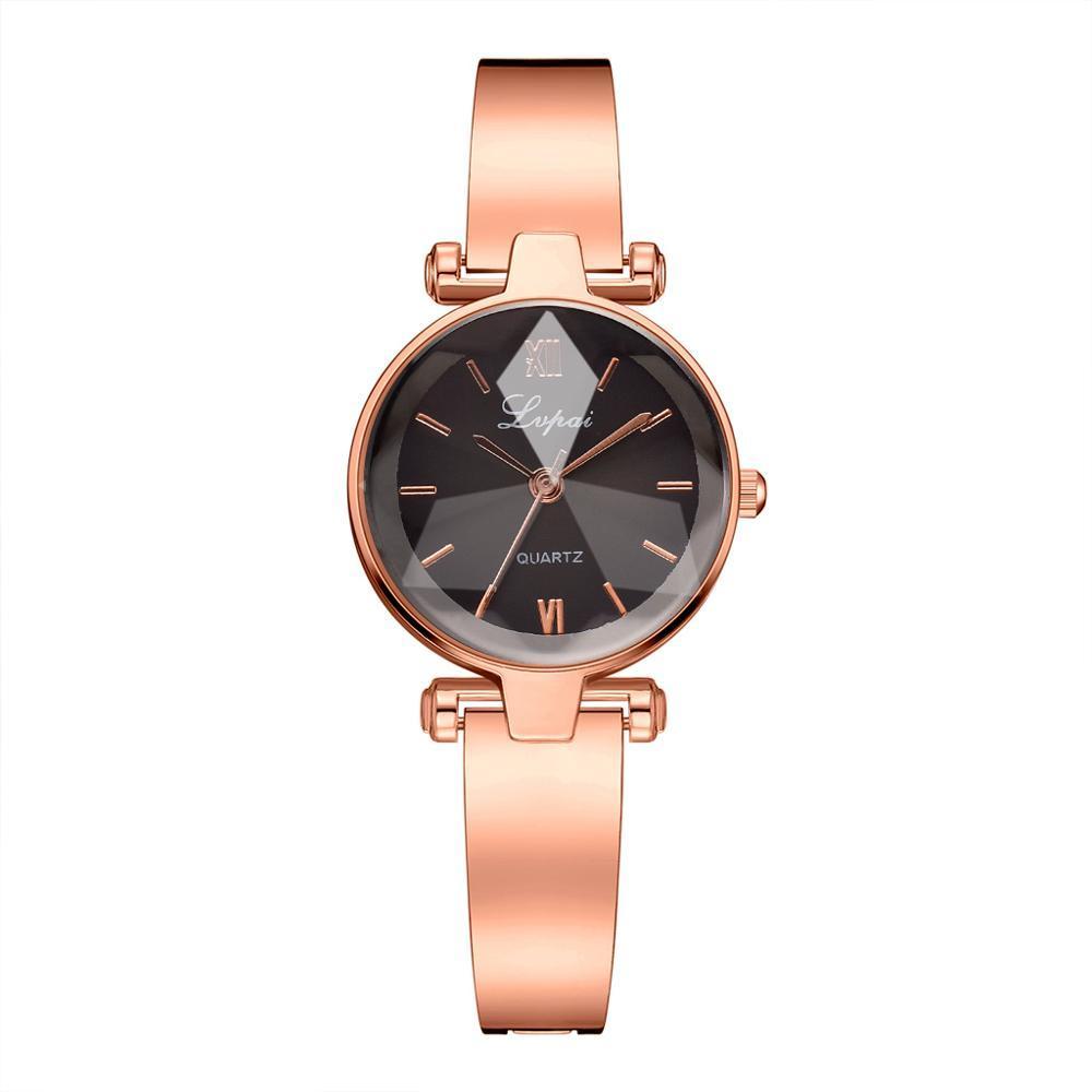 Pulsera de las mujeres Relojes de marca Gradiente convexo cuarzo del dial de las señoras del reloj de pulsera femenino vestido ocasional horas de reloj