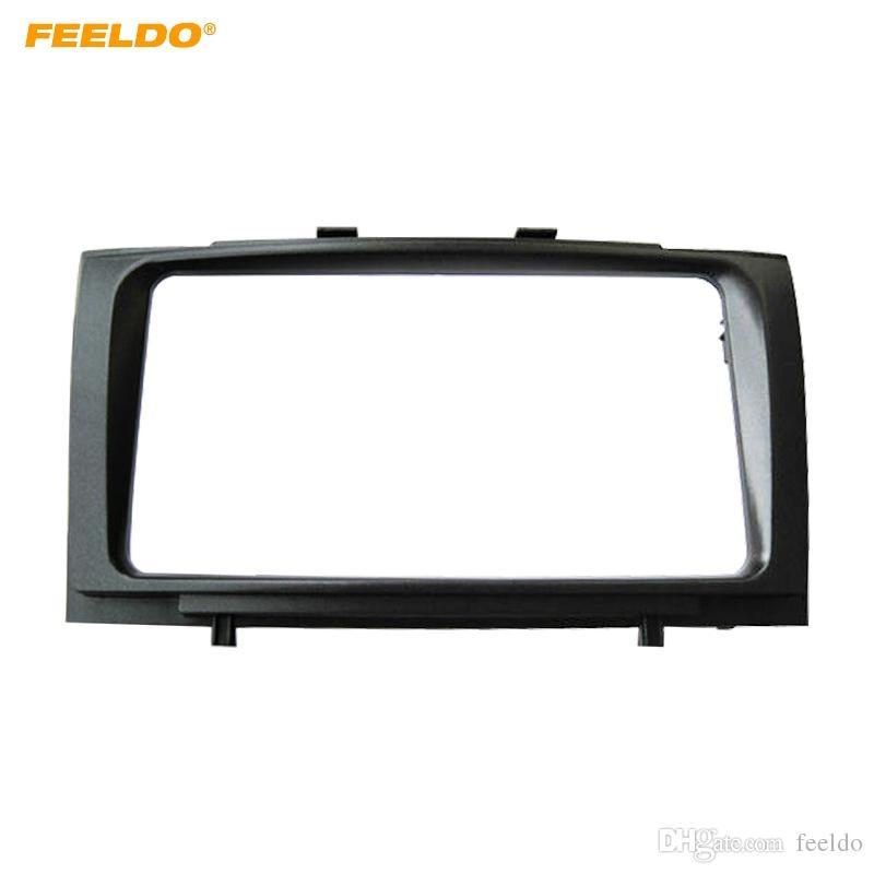 FEELDO 2DIN Car Stereo Fascia Frame Adapter for Toyota Avensis (T270) Audio Facia Panel Frame Dashboard Trim Kit 202*102MM #4857