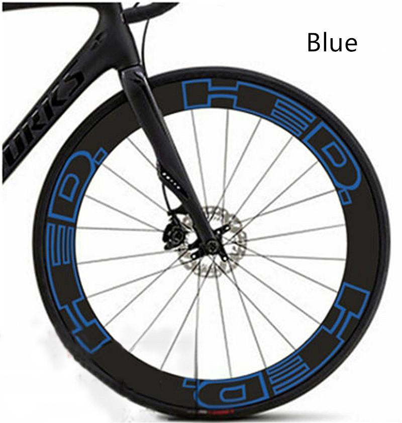 Camino de la bici dos etiquetas de reemplazo de rin para HED ciclo de la bicicleta de carreras Vinilos 80mm 60mm 70mm
