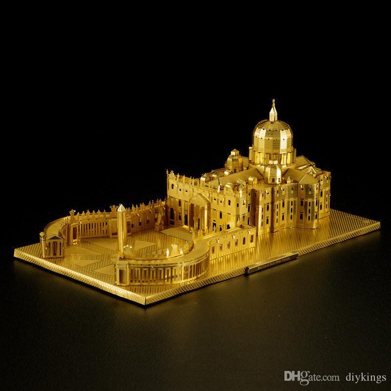 Stereo Basilica di San Pietro in 3D del metallo dell'acciaio inossidabile di puzzle del puzzle ad alta difficoltà figli adulti Jigsaw Puzzle