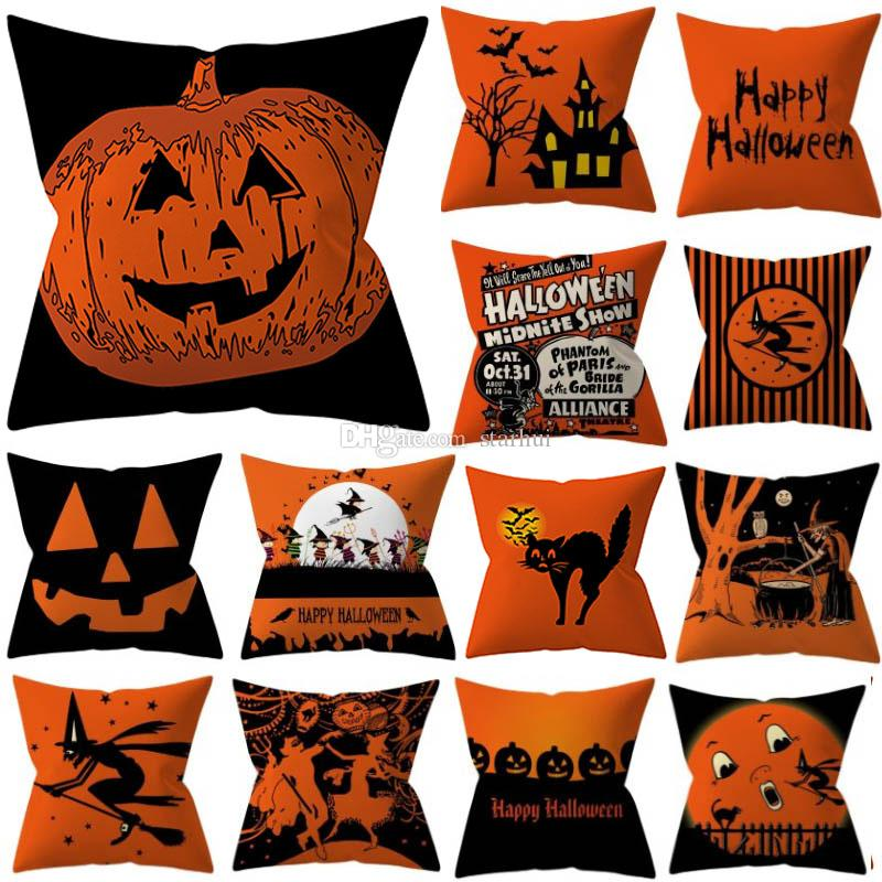32 Styles Halloween Pillowcases Cover Throw Pillow Cushion Pillow Case Cover For Striped Shark Dot Home Car Decoration Christmas WX9-1490